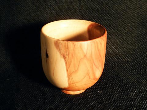 Bicchiere tornio in legno di tasso for Bicchieri in legno